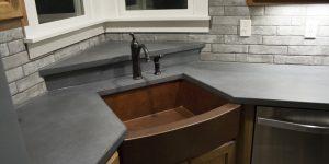concrete copper sink