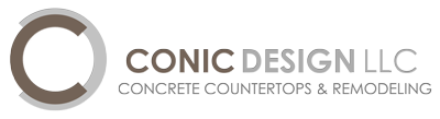 Conic Design LLC, Concrete Countertops Fort Wayne
